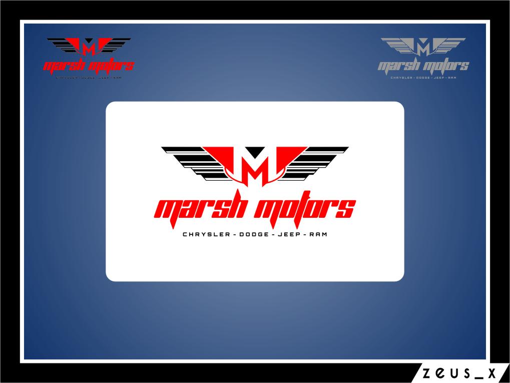 Logo Design by RoSyid Rono-Rene On Java - Entry No. 24 in the Logo Design Contest Marsh Motors Chrysler Logo Design.
