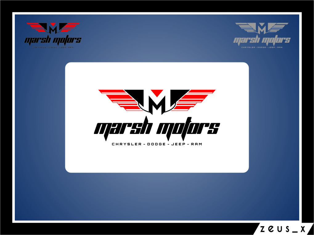Logo Design by Ngepet_art - Entry No. 25 in the Logo Design Contest Marsh Motors Chrysler Logo Design.
