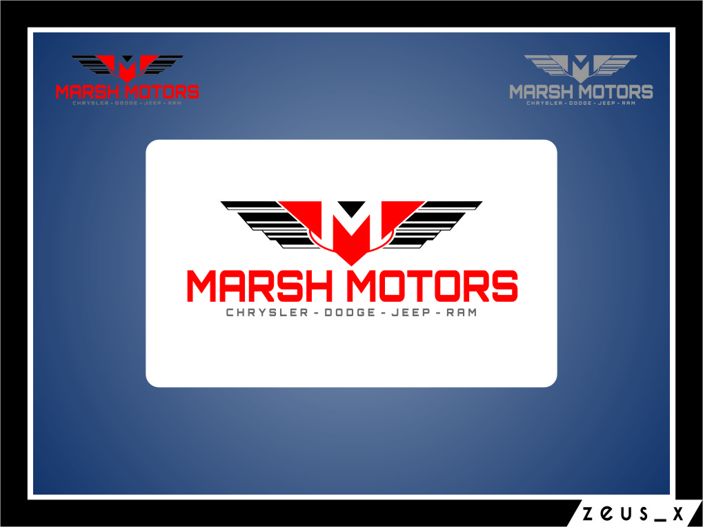 Logo Design by Ngepet_art - Entry No. 26 in the Logo Design Contest Marsh Motors Chrysler Logo Design.