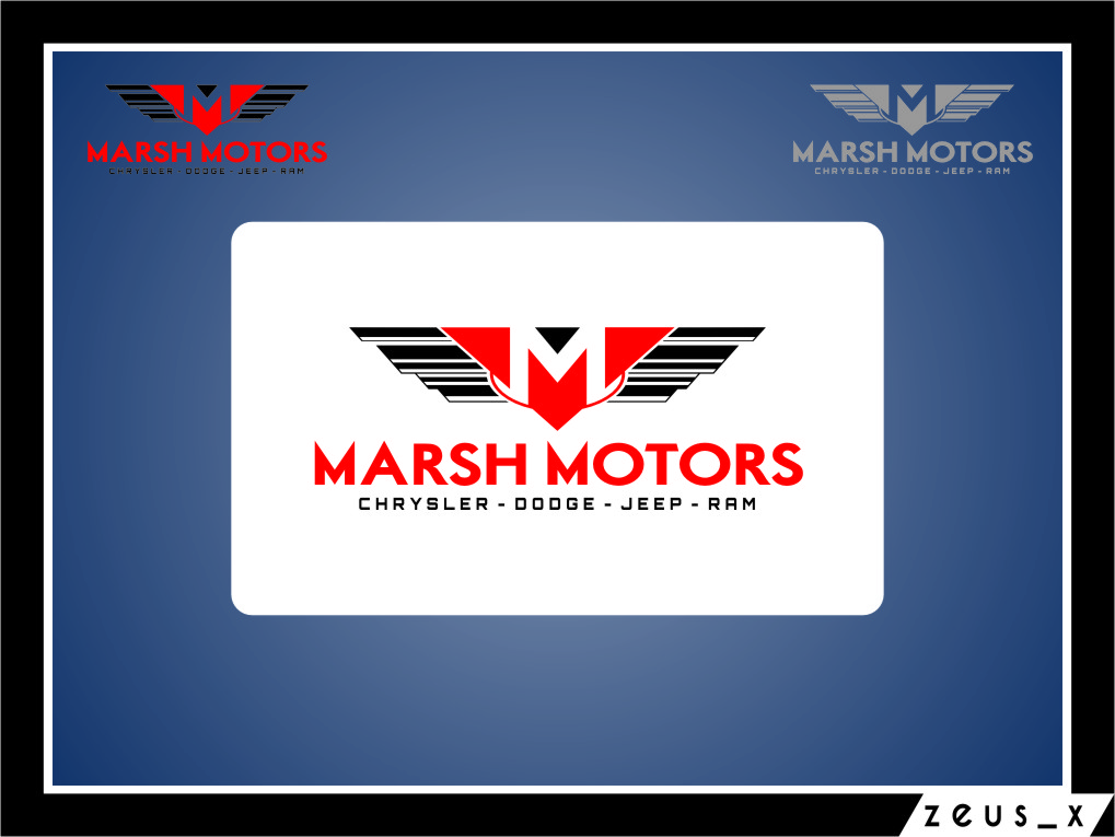 Logo Design by RasYa Muhammad Athaya - Entry No. 27 in the Logo Design Contest Marsh Motors Chrysler Logo Design.