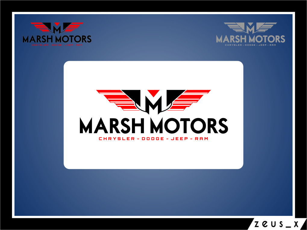 Logo Design by RasYa Muhammad Athaya - Entry No. 28 in the Logo Design Contest Marsh Motors Chrysler Logo Design.
