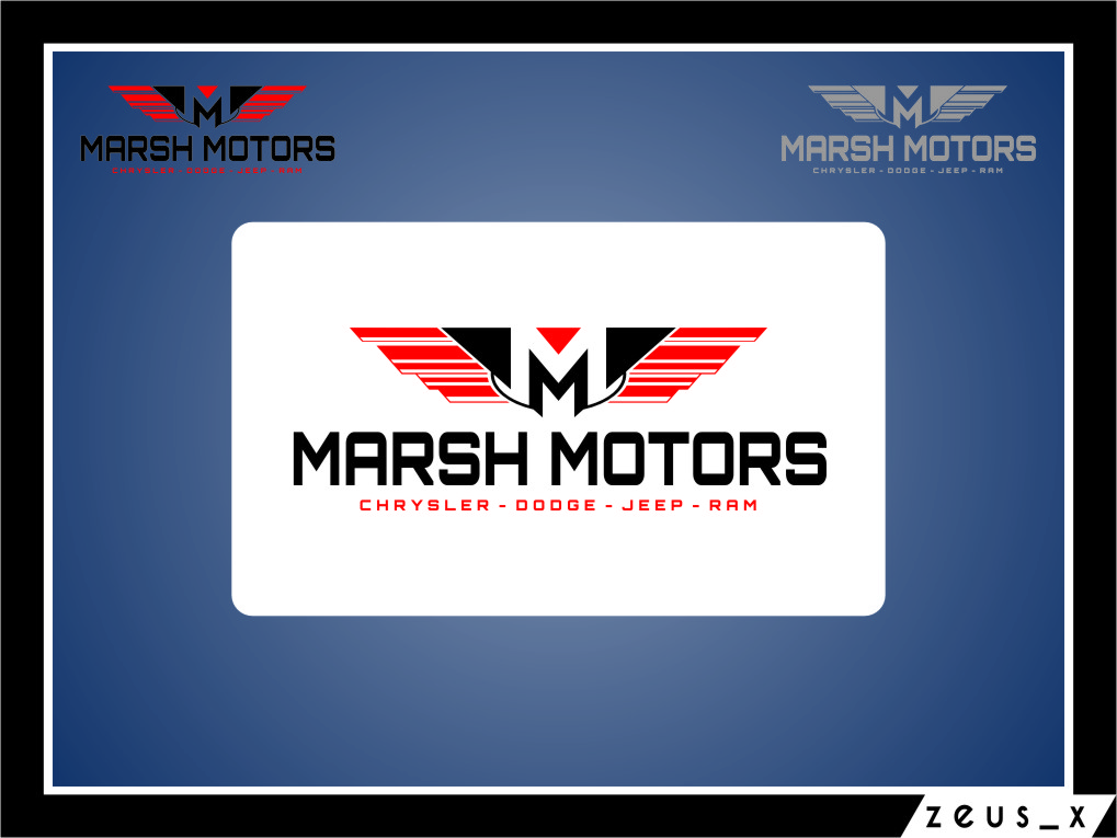 Logo Design by RasYa Muhammad Athaya - Entry No. 29 in the Logo Design Contest Marsh Motors Chrysler Logo Design.