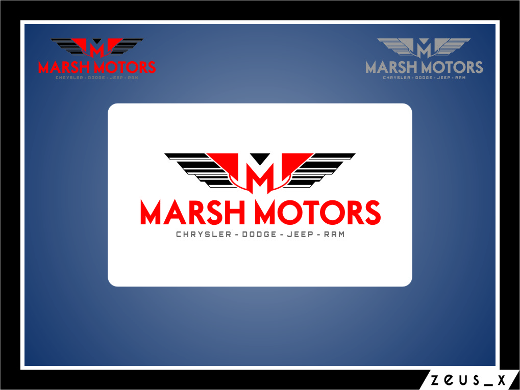 Logo Design by Ngepet_art - Entry No. 30 in the Logo Design Contest Marsh Motors Chrysler Logo Design.