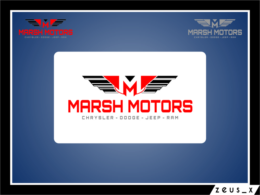 Logo Design by RoSyid Rono-Rene On Java - Entry No. 31 in the Logo Design Contest Marsh Motors Chrysler Logo Design.