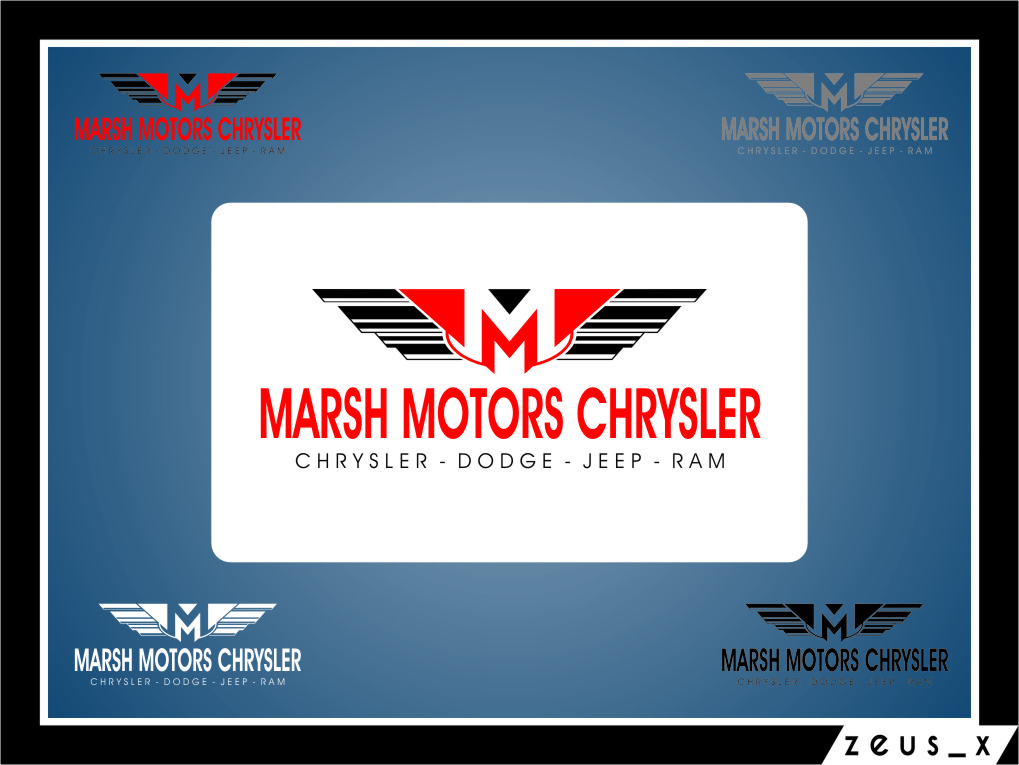 Logo Design by RasYa Muhammad Athaya - Entry No. 32 in the Logo Design Contest Marsh Motors Chrysler Logo Design.