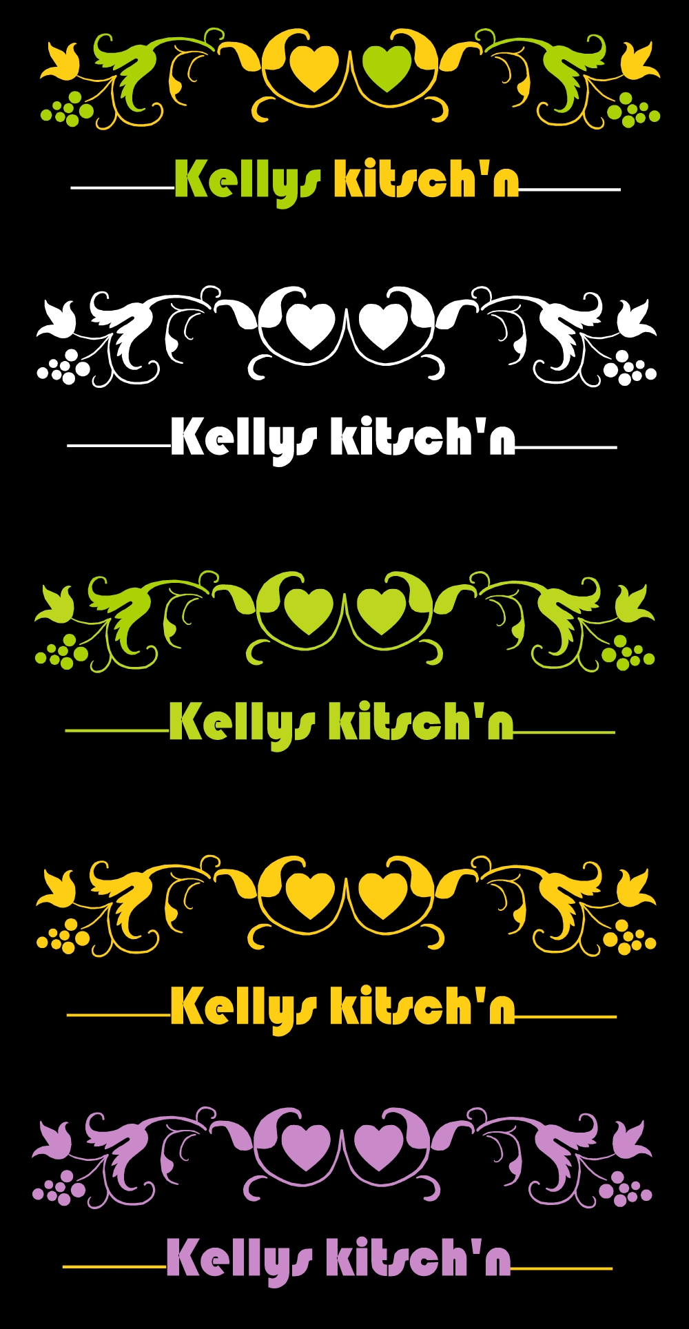 Logo Design by Oceanshark - Entry No. 75 in the Logo Design Contest Unique Logo Design Wanted for Kelly's Kitsch'n.