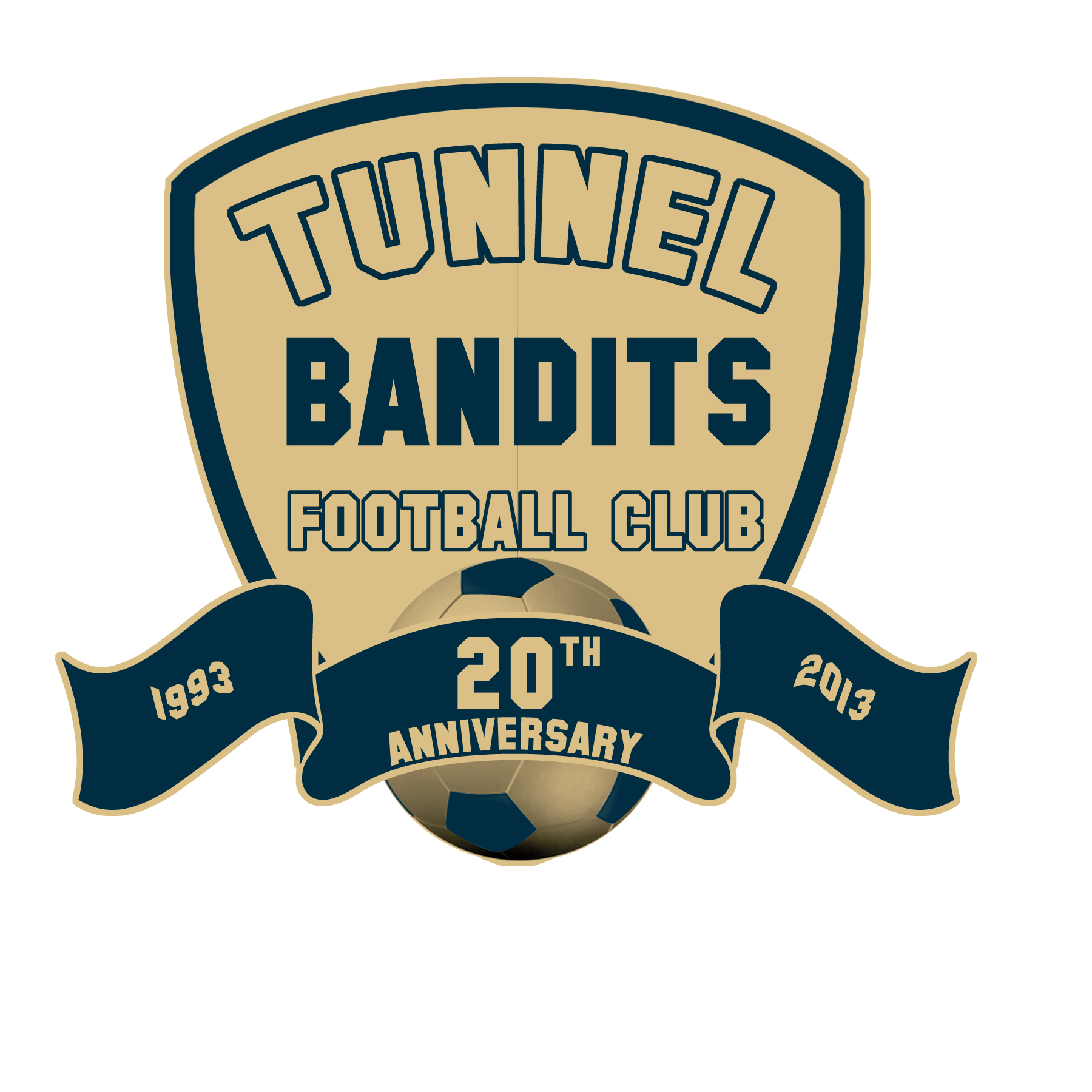 logo design contests tunnel bandits football club tbfc logo
