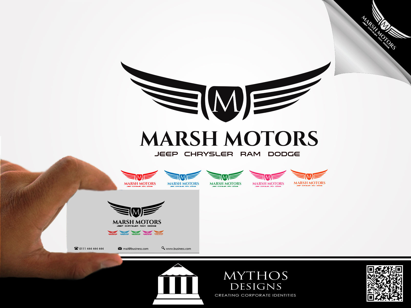 Logo Design by Mythos Designs - Entry No. 33 in the Logo Design Contest Marsh Motors Chrysler Logo Design.