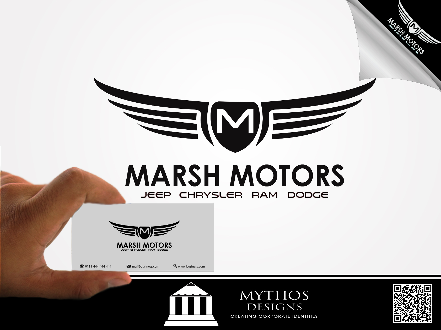Logo Design by Mythos Designs - Entry No. 34 in the Logo Design Contest Marsh Motors Chrysler Logo Design.