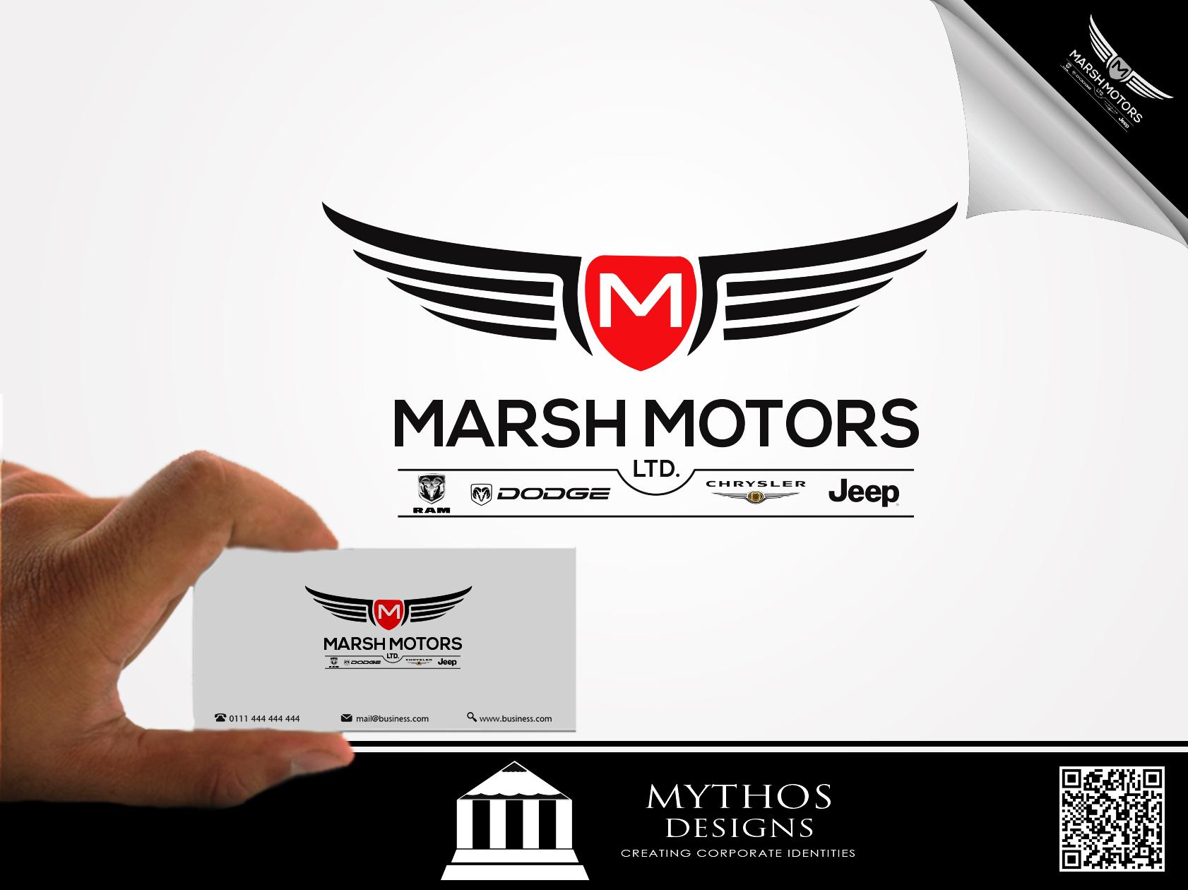 Logo Design by Mythos Designs - Entry No. 37 in the Logo Design Contest Marsh Motors Chrysler Logo Design.