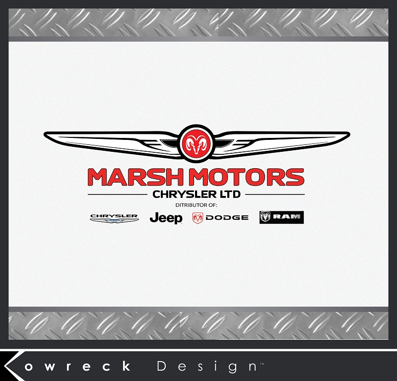 Logo Design by kowreck - Entry No. 39 in the Logo Design Contest Marsh Motors Chrysler Logo Design.
