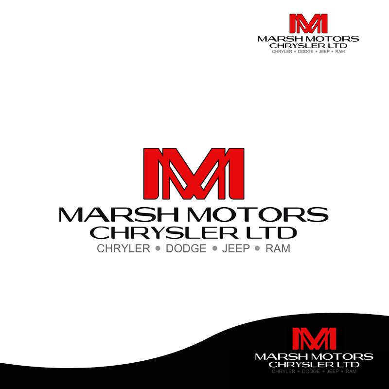 Logo Design by Robert Turla - Entry No. 40 in the Logo Design Contest Marsh Motors Chrysler Logo Design.