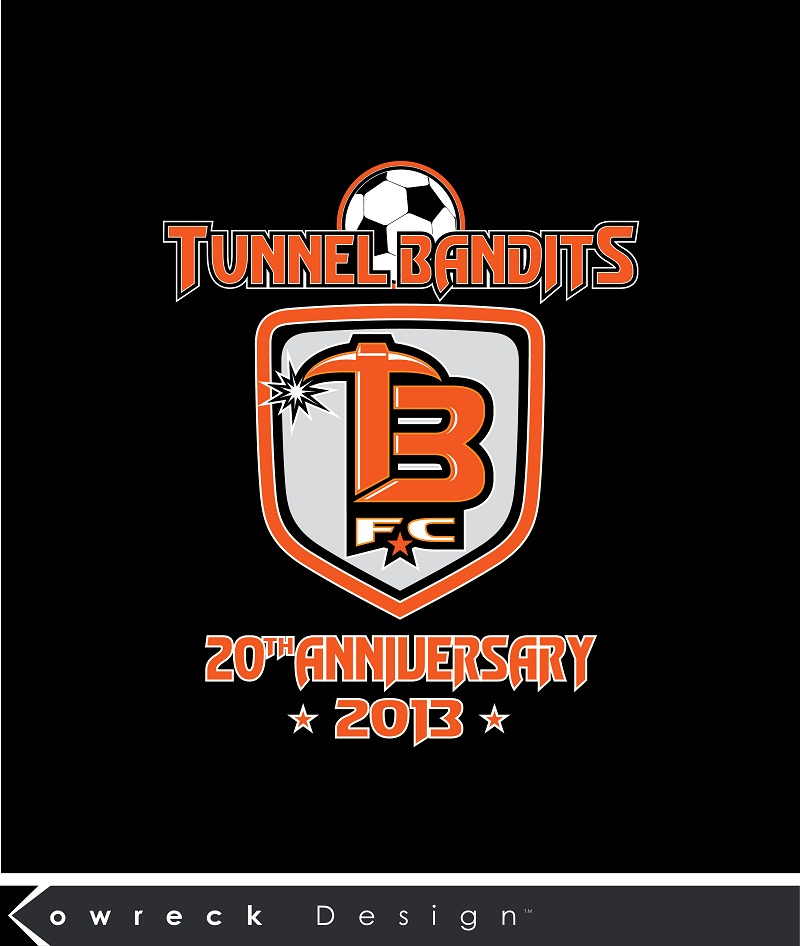 Logo Design by kowreck - Entry No. 32 in the Logo Design Contest Tunnel Bandits Football Club (TBFC) Logo Design.