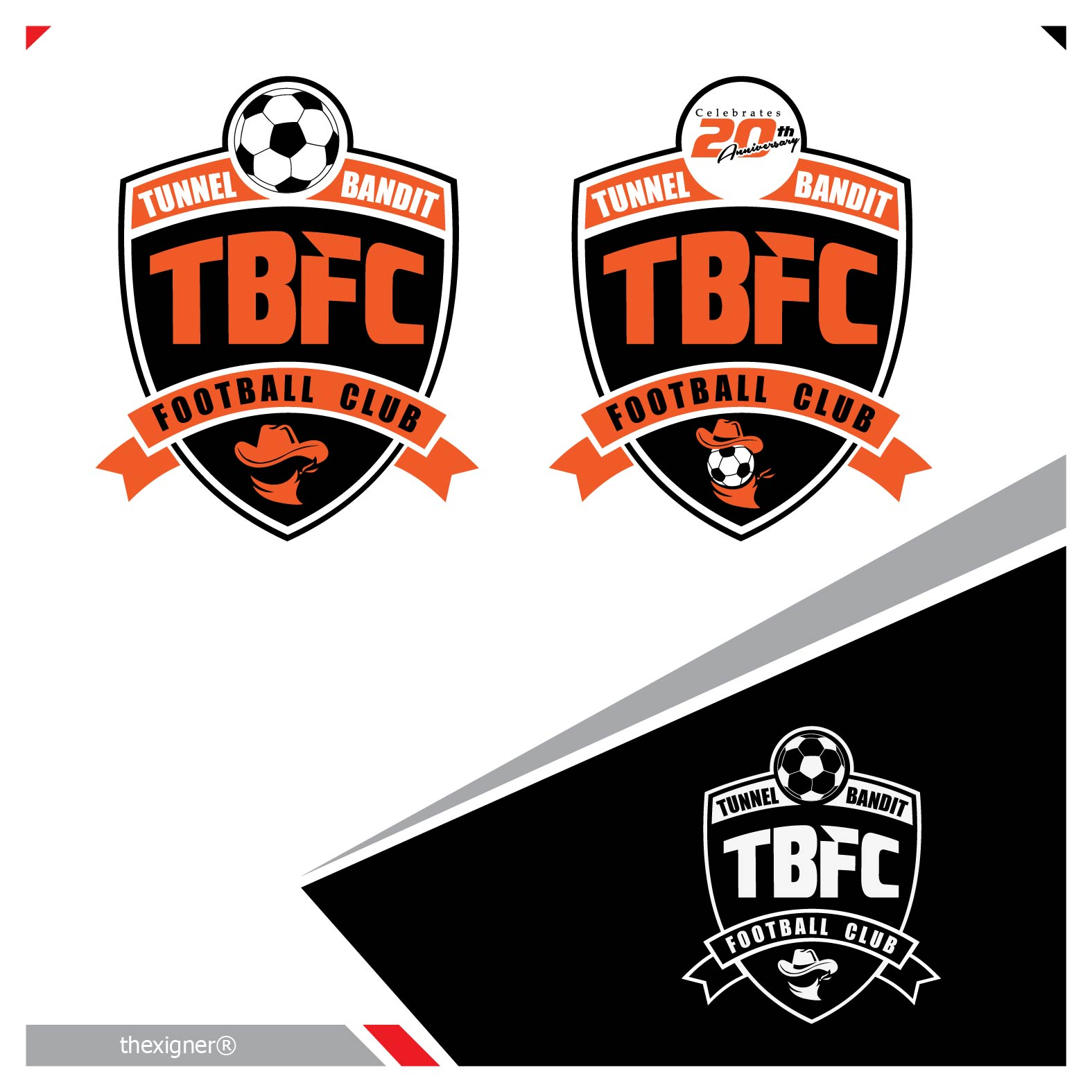 Logo Design by lagalag - Entry No. 34 in the Logo Design Contest Tunnel Bandits Football Club (TBFC) Logo Design.