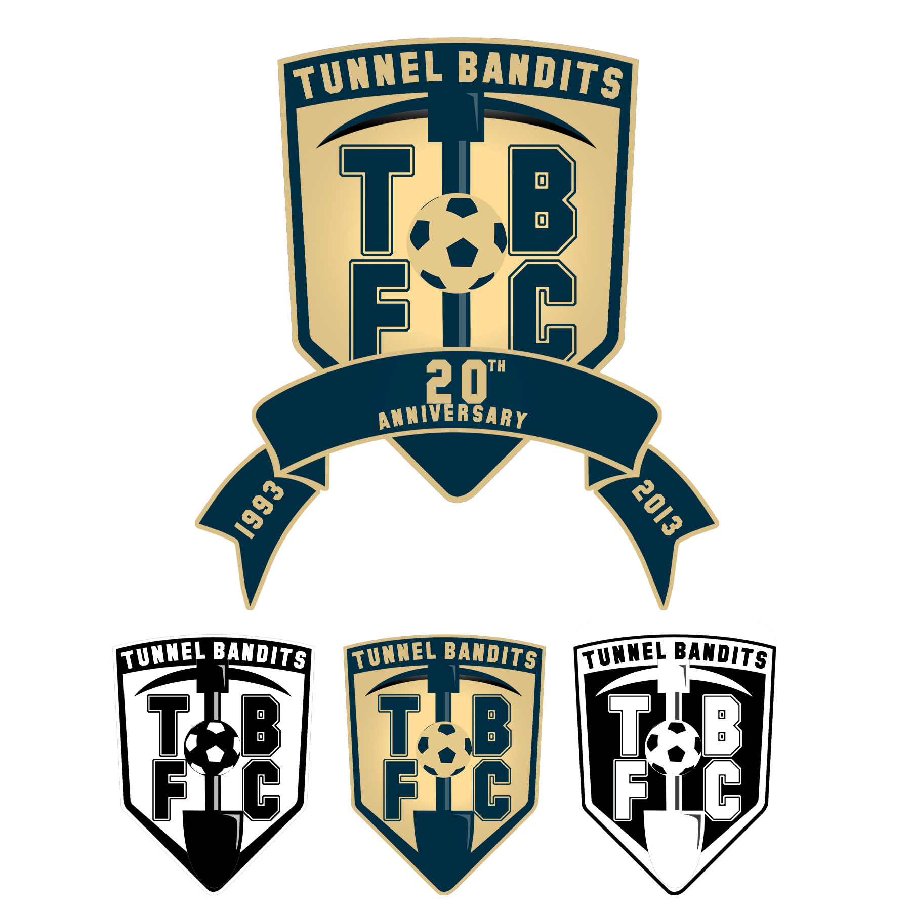 Logo Design by Private User - Entry No. 36 in the Logo Design Contest Tunnel Bandits Football Club (TBFC) Logo Design.