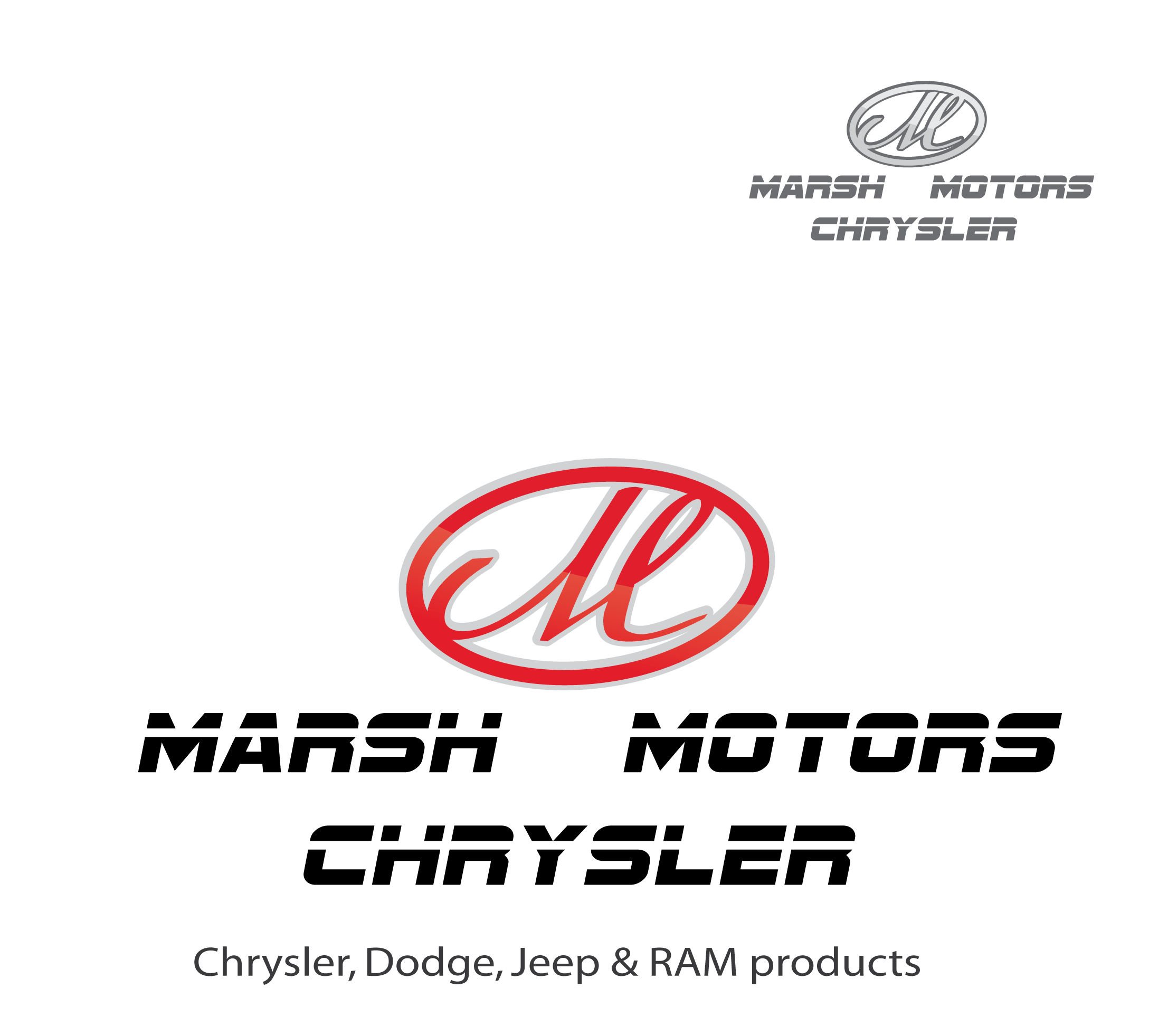 Logo Design by 354studio - Entry No. 44 in the Logo Design Contest Marsh Motors Chrysler Logo Design.