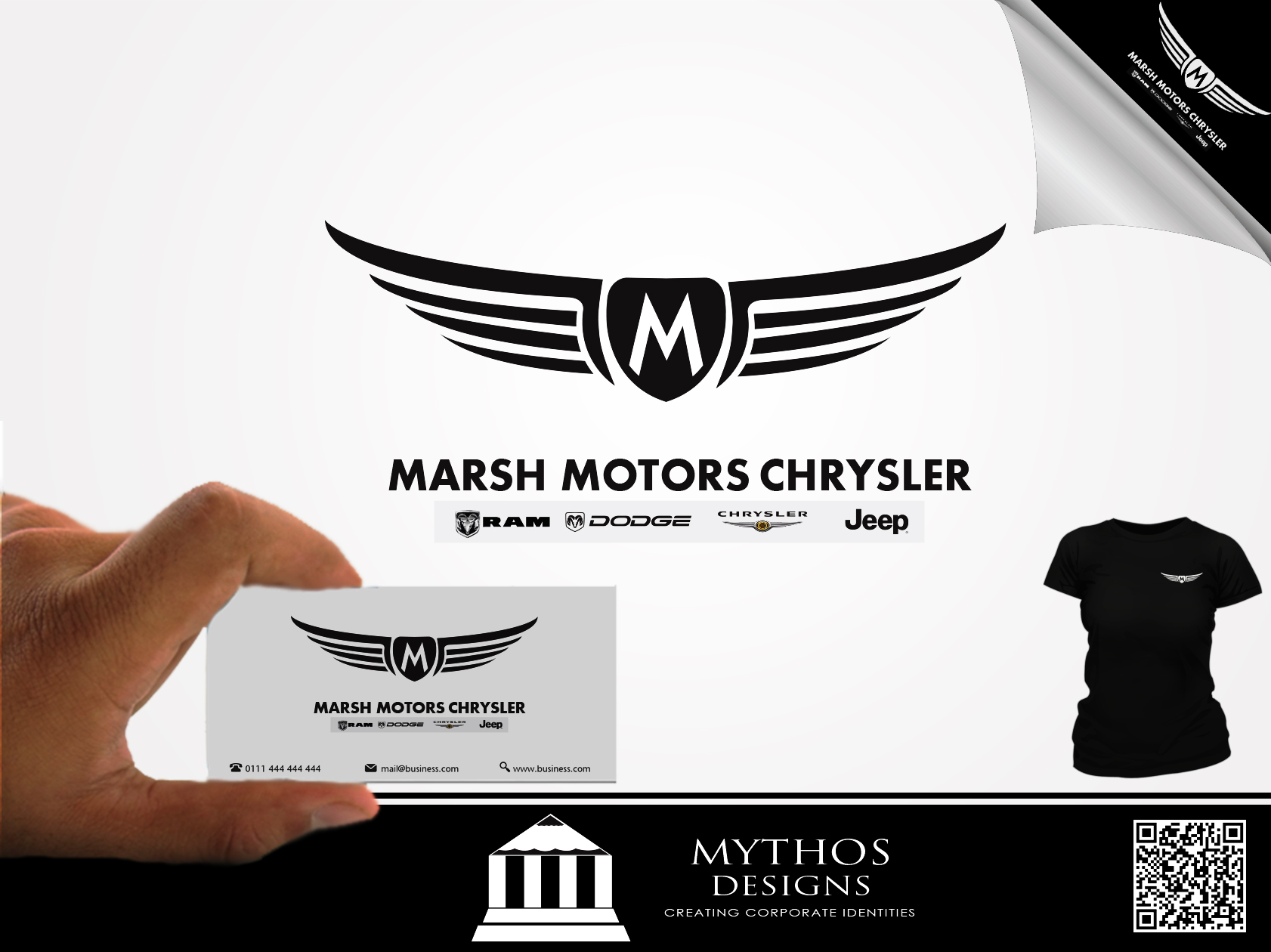 Logo Design by Mythos Designs - Entry No. 45 in the Logo Design Contest Marsh Motors Chrysler Logo Design.
