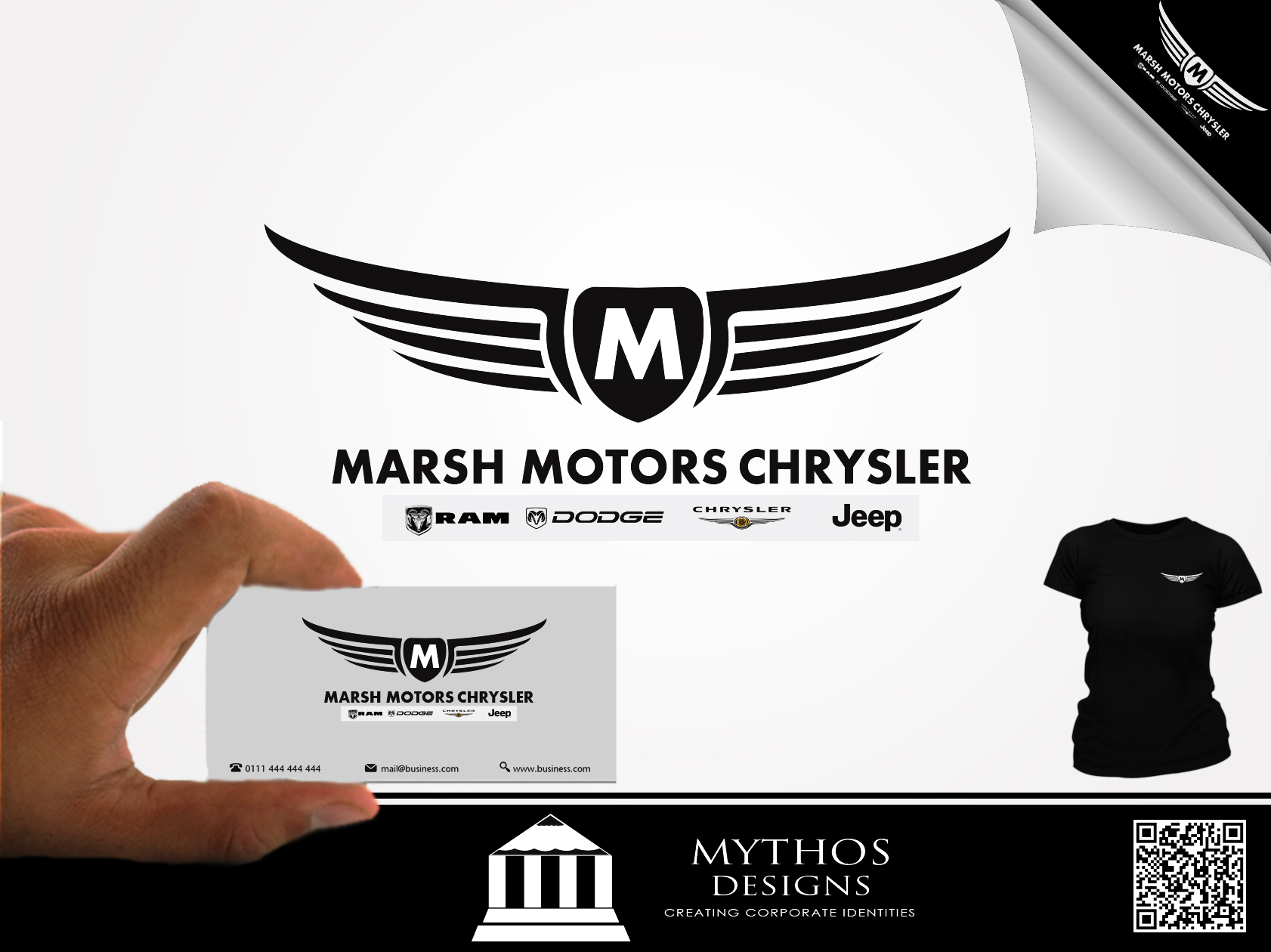 Logo Design by Mythos Designs - Entry No. 46 in the Logo Design Contest Marsh Motors Chrysler Logo Design.