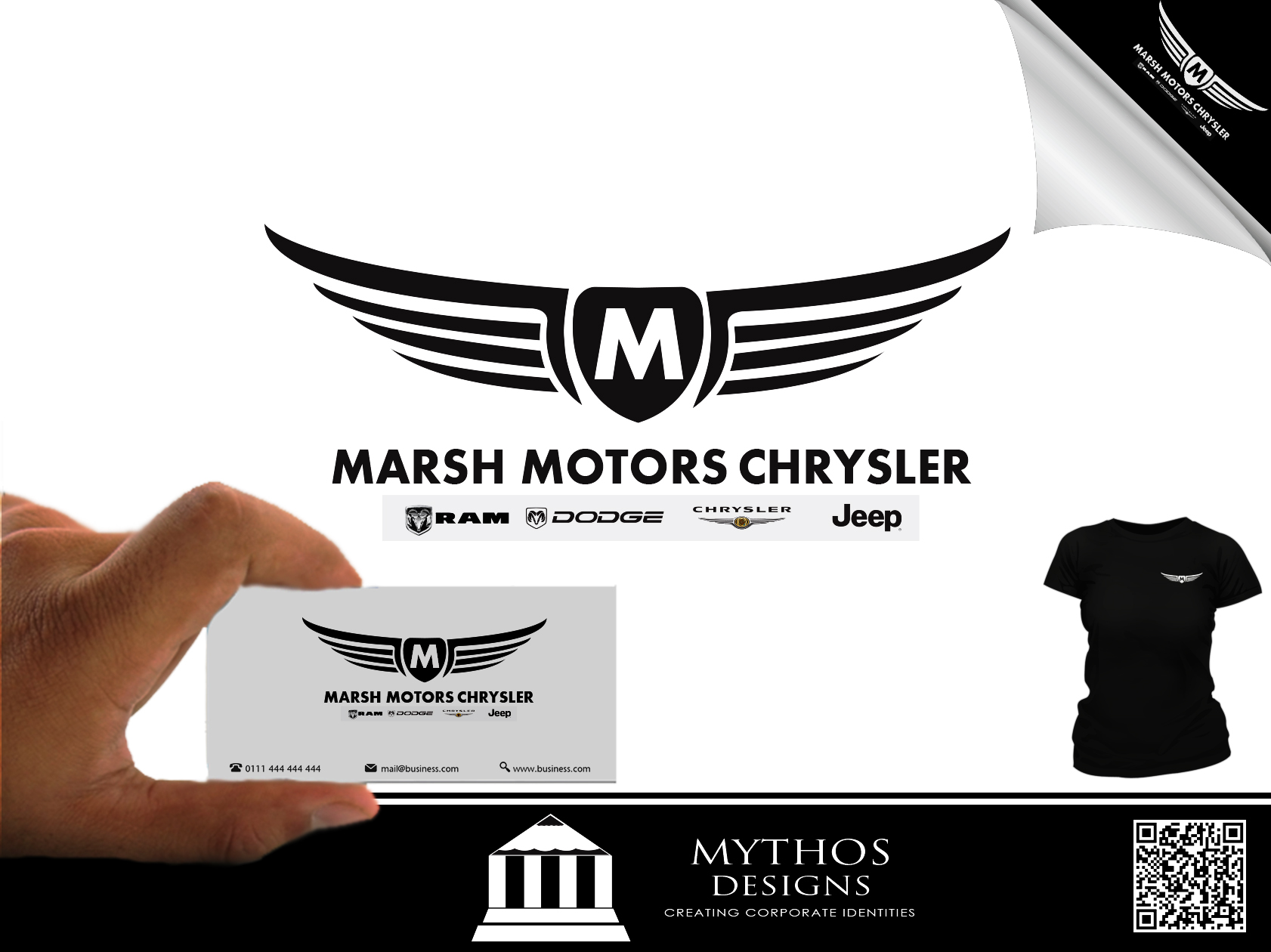 Logo Design by Mythos Designs - Entry No. 47 in the Logo Design Contest Marsh Motors Chrysler Logo Design.