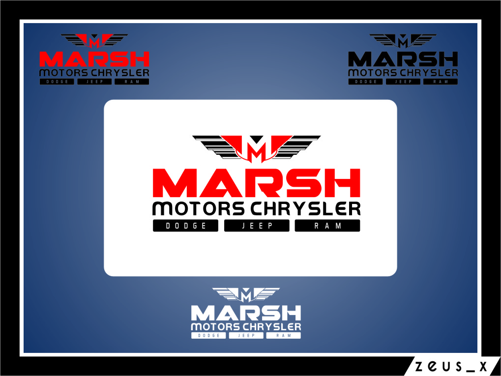 Logo Design by RasYa Muhammad Athaya - Entry No. 48 in the Logo Design Contest Marsh Motors Chrysler Logo Design.