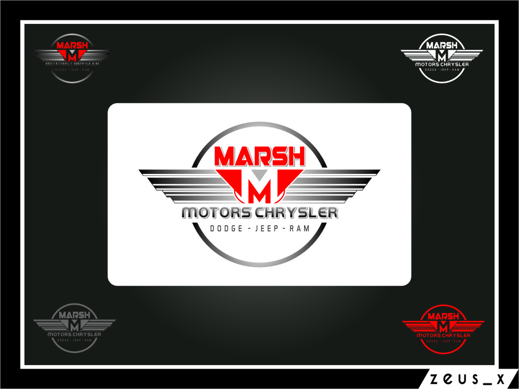 Logo Design by RasYa Muhammad Athaya - Entry No. 49 in the Logo Design Contest Marsh Motors Chrysler Logo Design.