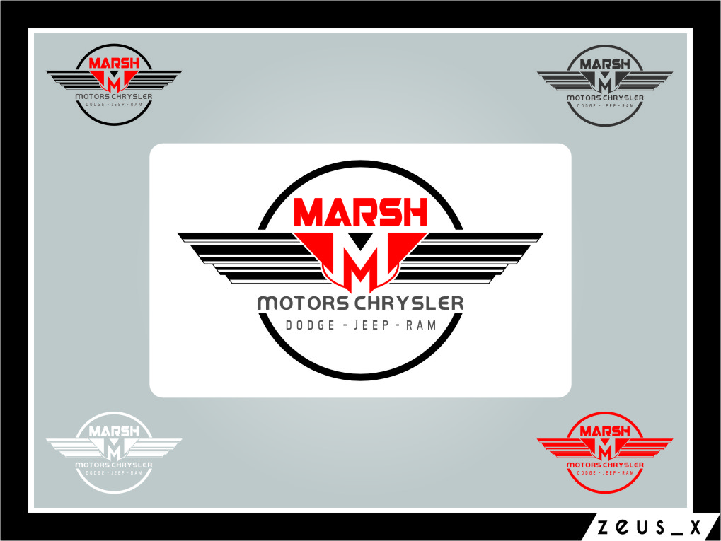 Logo Design by RasYa Muhammad Athaya - Entry No. 50 in the Logo Design Contest Marsh Motors Chrysler Logo Design.