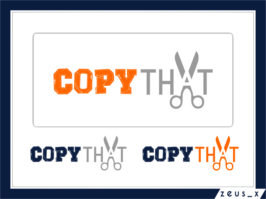 Logo Design by Ngepet_art - Entry No. 29 in the Logo Design Contest Inspiring Logo Design for CopyThat.
