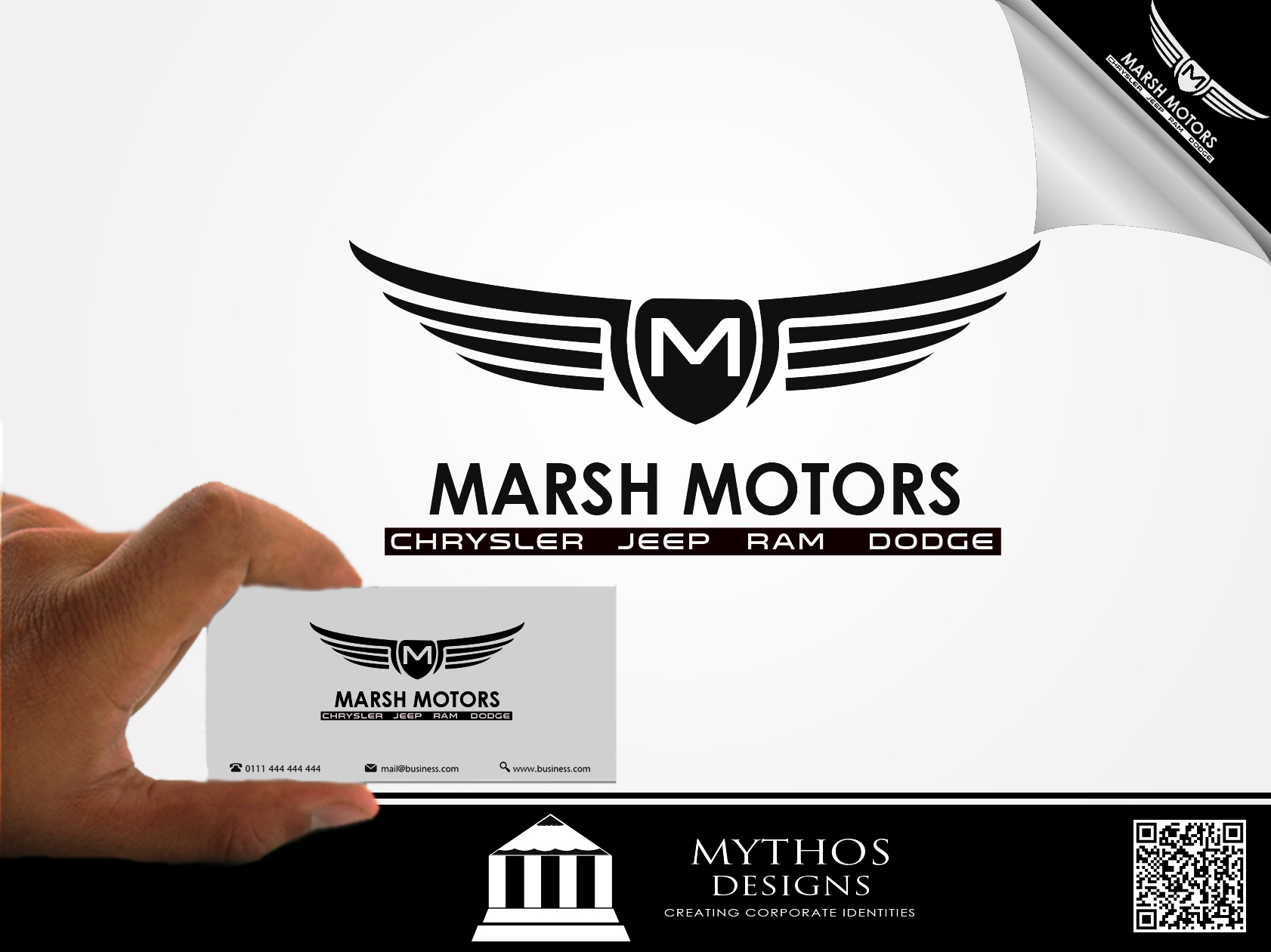 Logo Design by Mythos Designs - Entry No. 52 in the Logo Design Contest Marsh Motors Chrysler Logo Design.