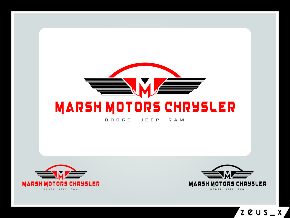 Logo Design by RasYa Muhammad Athaya - Entry No. 53 in the Logo Design Contest Marsh Motors Chrysler Logo Design.