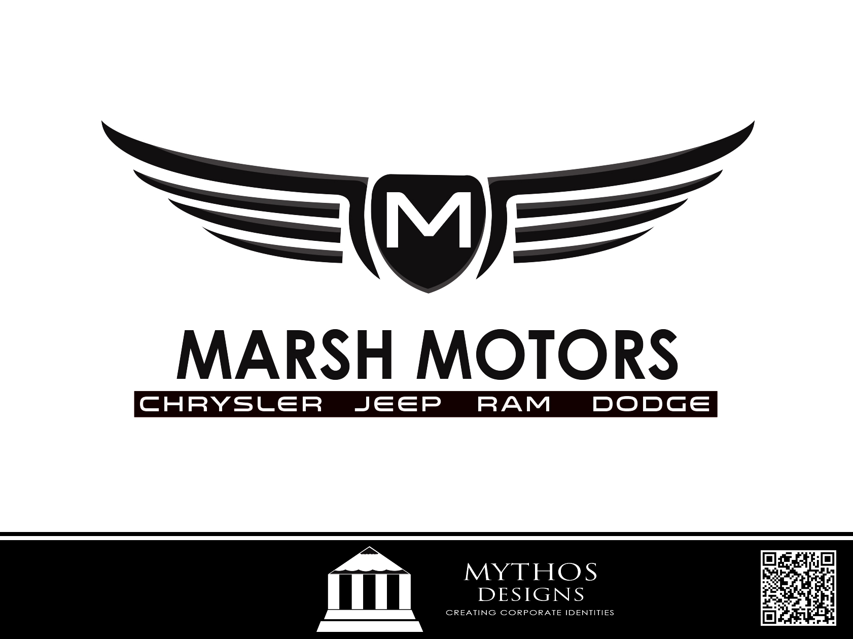 Logo Design by Mythos Designs - Entry No. 54 in the Logo Design Contest Marsh Motors Chrysler Logo Design.