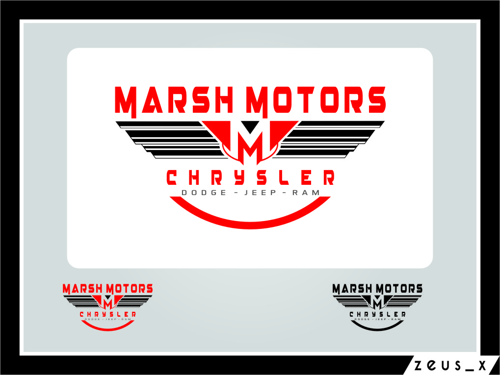 Logo Design by Ngepet_art - Entry No. 55 in the Logo Design Contest Marsh Motors Chrysler Logo Design.