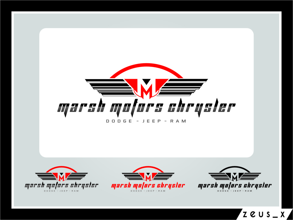 Logo Design by Ngepet_art - Entry No. 56 in the Logo Design Contest Marsh Motors Chrysler Logo Design.