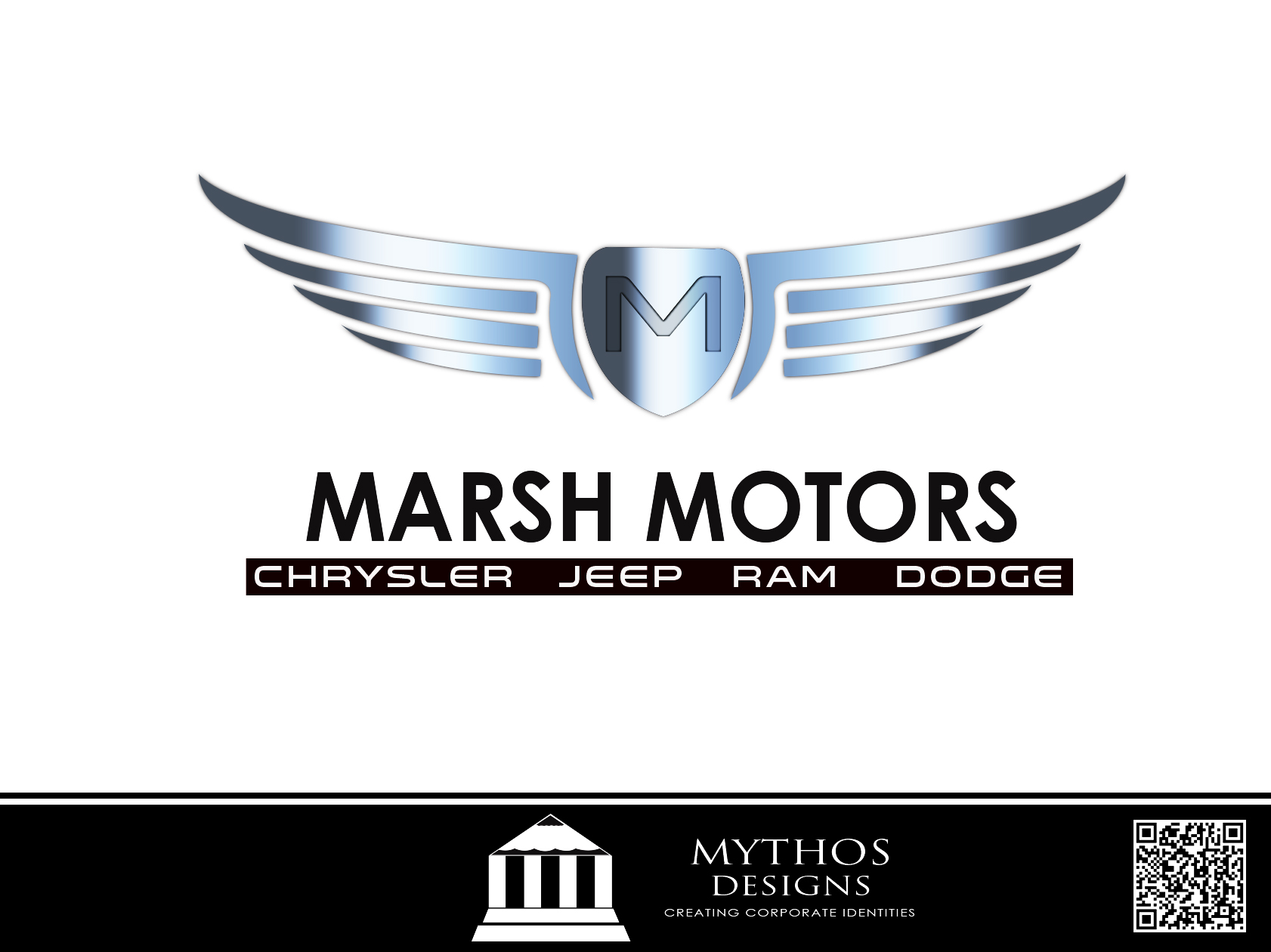 Logo Design by Mythos Designs - Entry No. 57 in the Logo Design Contest Marsh Motors Chrysler Logo Design.