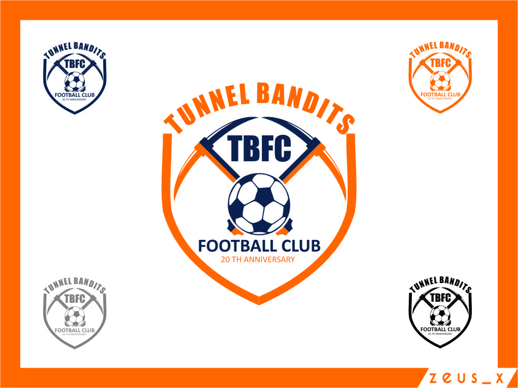 Logo Design by Ngepet_art - Entry No. 42 in the Logo Design Contest Tunnel Bandits Football Club (TBFC) Logo Design.