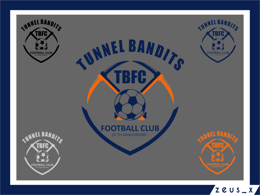 Logo Design by Ngepet_art - Entry No. 43 in the Logo Design Contest Tunnel Bandits Football Club (TBFC) Logo Design.