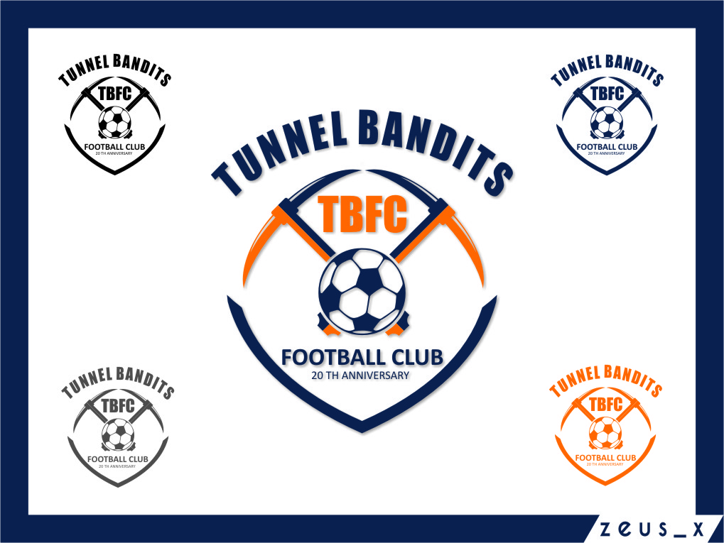 Logo Design by RasYa Muhammad Athaya - Entry No. 44 in the Logo Design Contest Tunnel Bandits Football Club (TBFC) Logo Design.