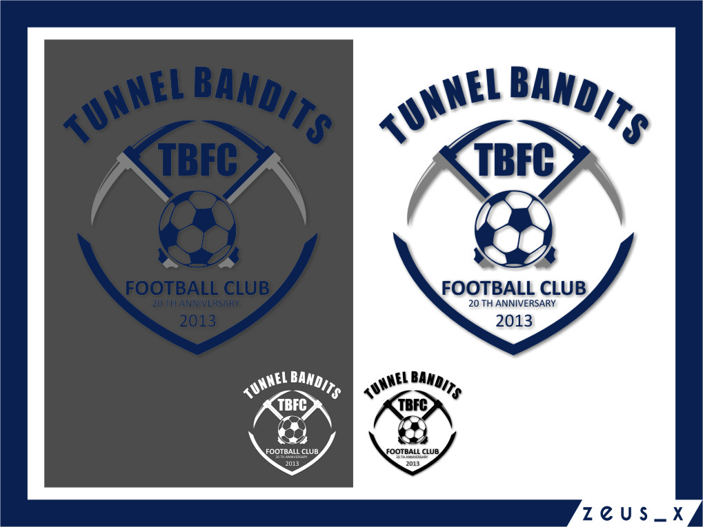 Logo Design by Ngepet_art - Entry No. 45 in the Logo Design Contest Tunnel Bandits Football Club (TBFC) Logo Design.