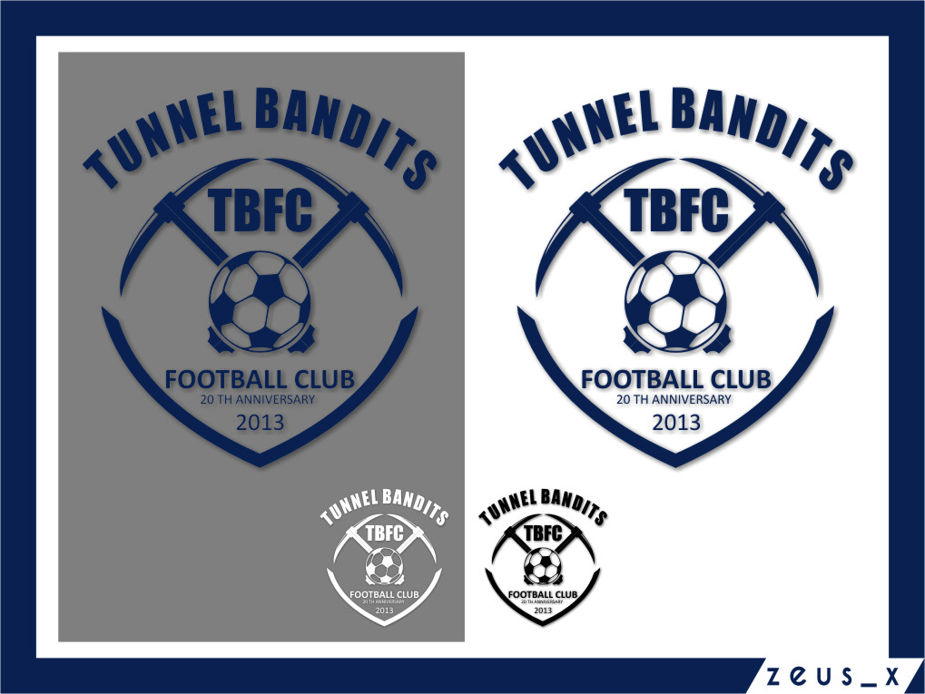 Logo Design by Ngepet_art - Entry No. 46 in the Logo Design Contest Tunnel Bandits Football Club (TBFC) Logo Design.
