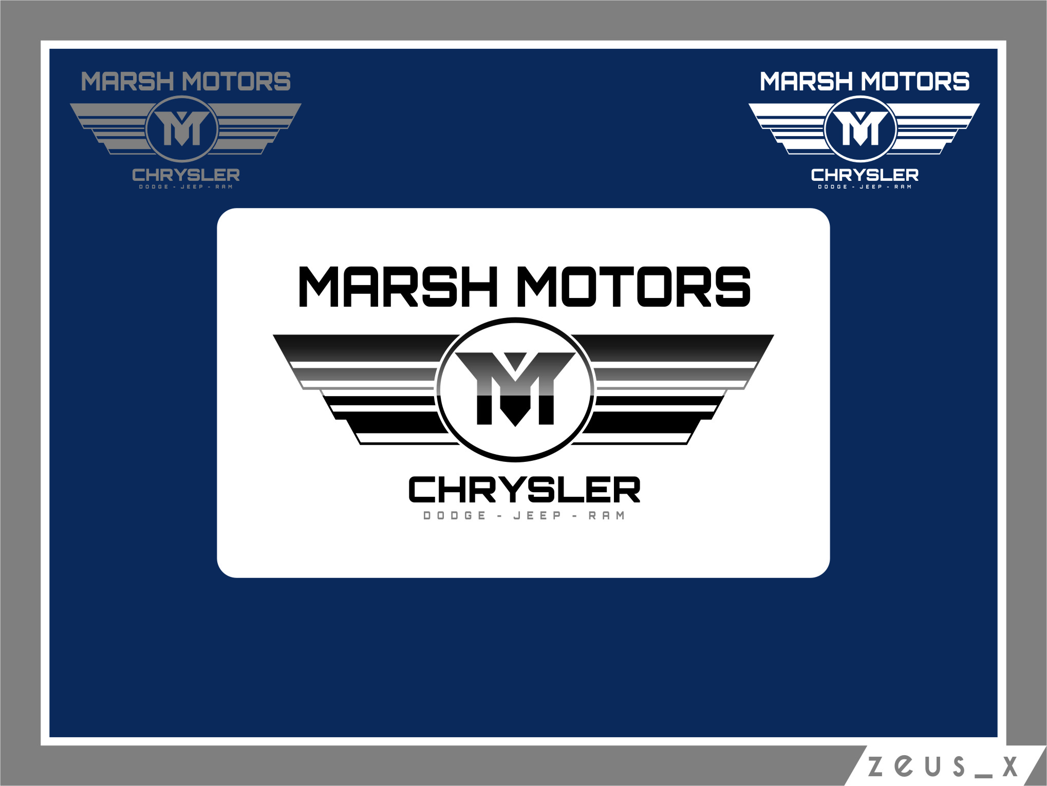 Logo Design by RasYa Muhammad Athaya - Entry No. 61 in the Logo Design Contest Marsh Motors Chrysler Logo Design.
