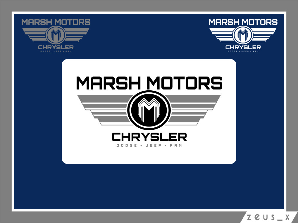 Logo Design by RasYa Muhammad Athaya - Entry No. 62 in the Logo Design Contest Marsh Motors Chrysler Logo Design.