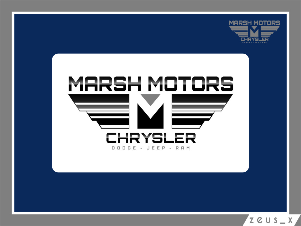 Logo Design by Ngepet_art - Entry No. 63 in the Logo Design Contest Marsh Motors Chrysler Logo Design.