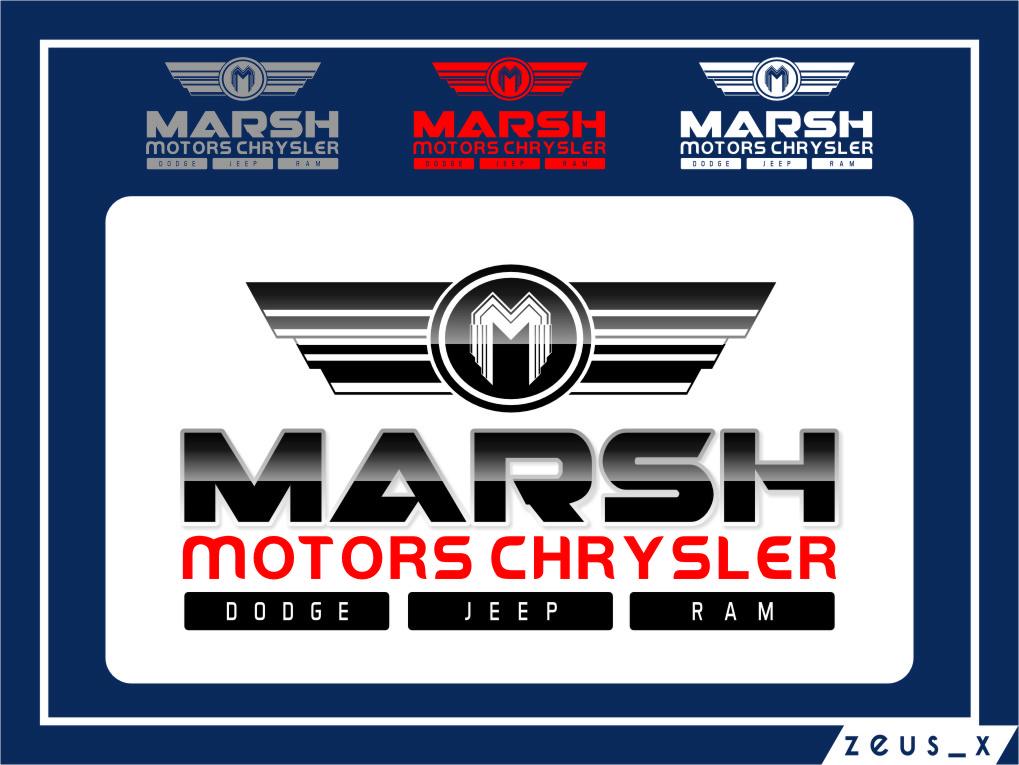 Logo Design by RasYa Muhammad Athaya - Entry No. 66 in the Logo Design Contest Marsh Motors Chrysler Logo Design.