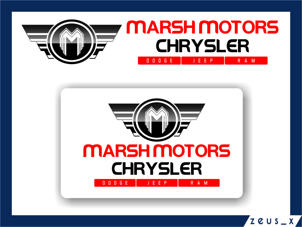 Logo Design by RasYa Muhammad Athaya - Entry No. 72 in the Logo Design Contest Marsh Motors Chrysler Logo Design.