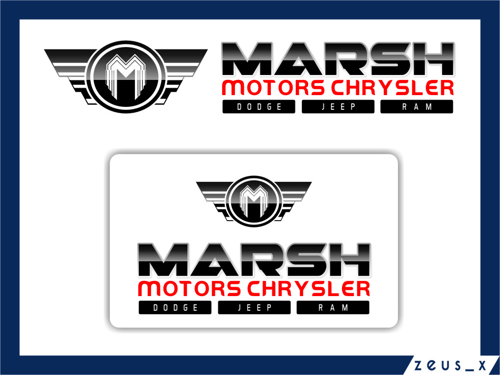 Logo Design by RasYa Muhammad Athaya - Entry No. 73 in the Logo Design Contest Marsh Motors Chrysler Logo Design.
