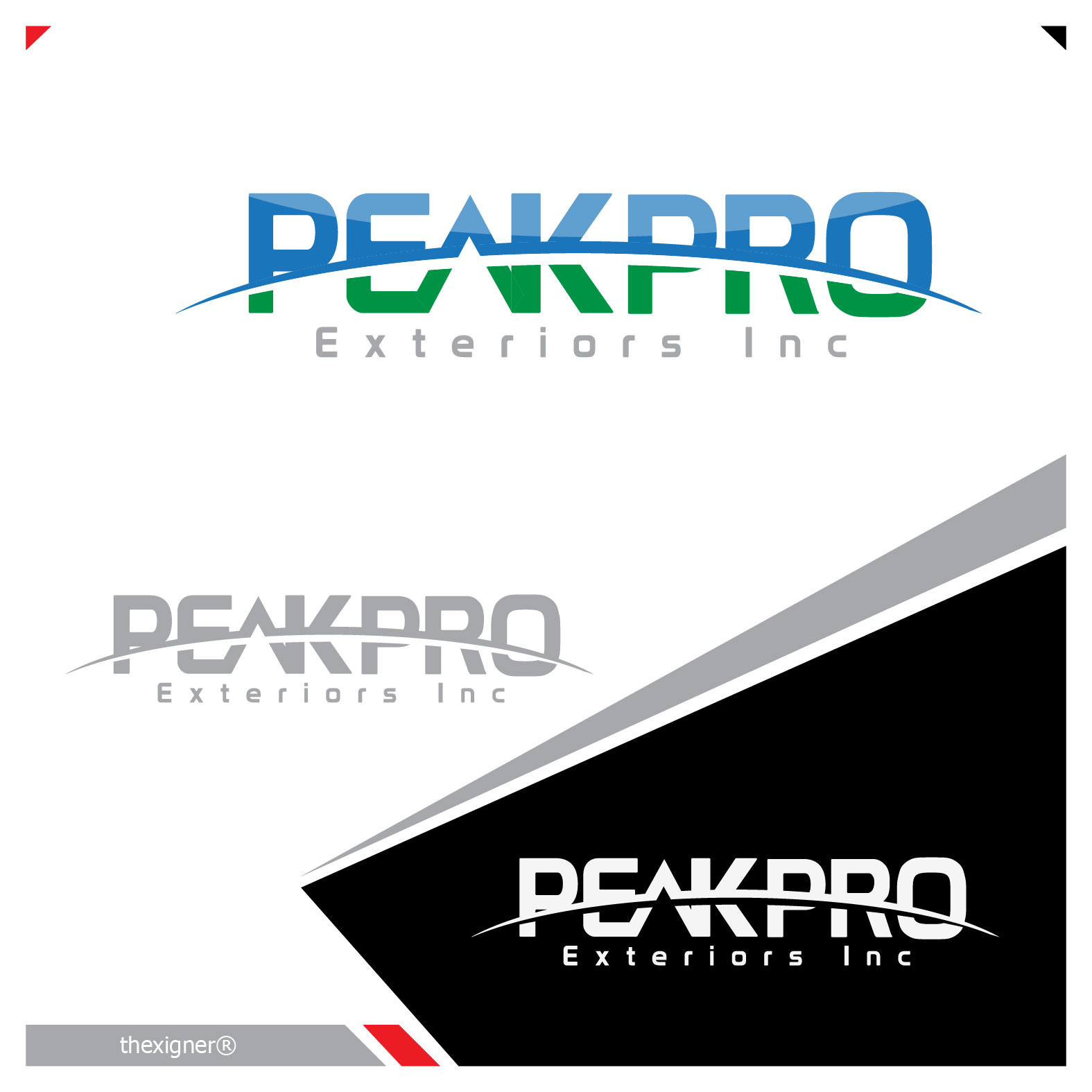 Logo Design by lagalag - Entry No. 11 in the Logo Design Contest Captivating Logo Design for Peakpro Exteriors Inc..