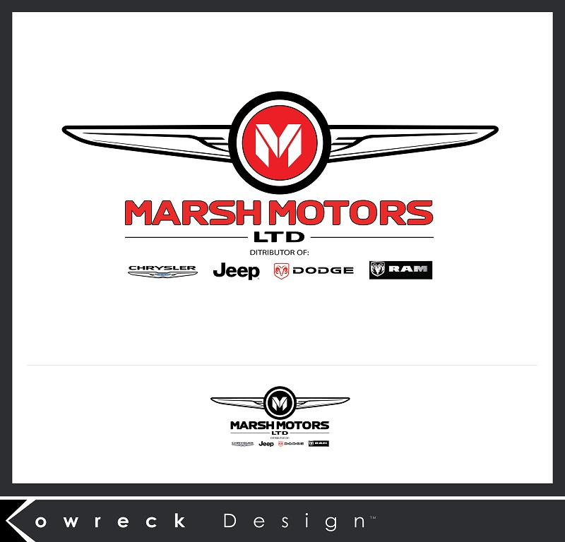 Logo Design by kowreck - Entry No. 77 in the Logo Design Contest Marsh Motors Chrysler Logo Design.