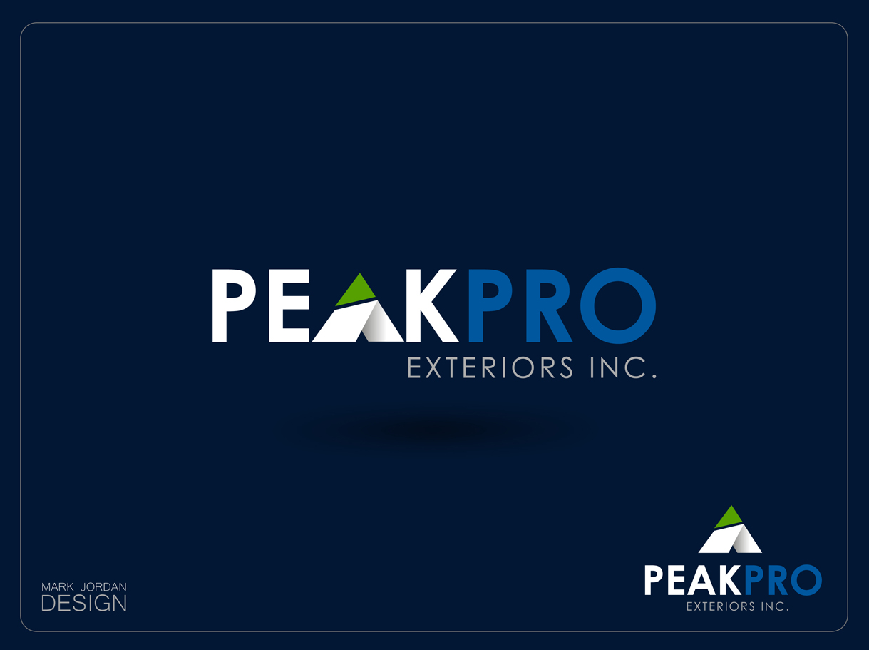 Logo Design by Mark Anthony Moreto Jordan - Entry No. 14 in the Logo Design Contest Captivating Logo Design for Peakpro Exteriors Inc..