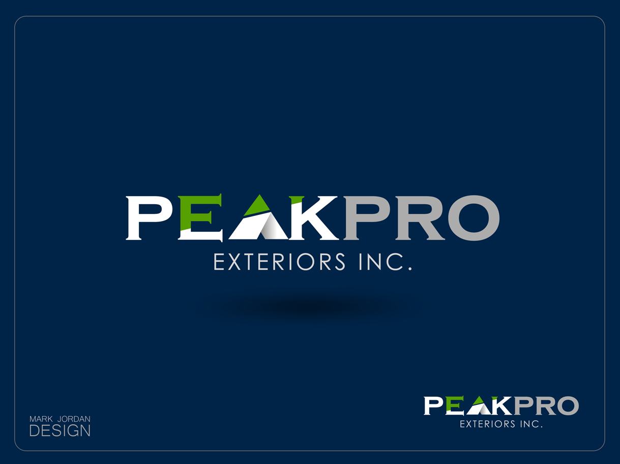 Logo Design by Mark Anthony Moreto Jordan - Entry No. 15 in the Logo Design Contest Captivating Logo Design for Peakpro Exteriors Inc..