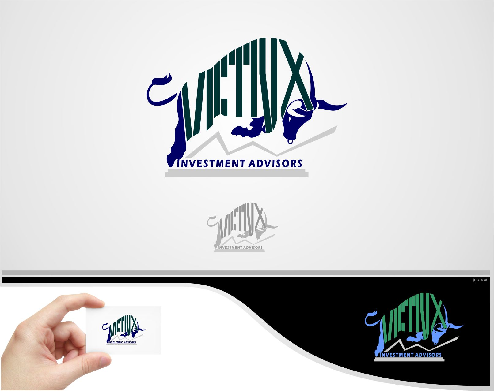 Logo Design by joca - Entry No. 109 in the Logo Design Contest Inspiring Logo Design for Victrix Investment Advisors.