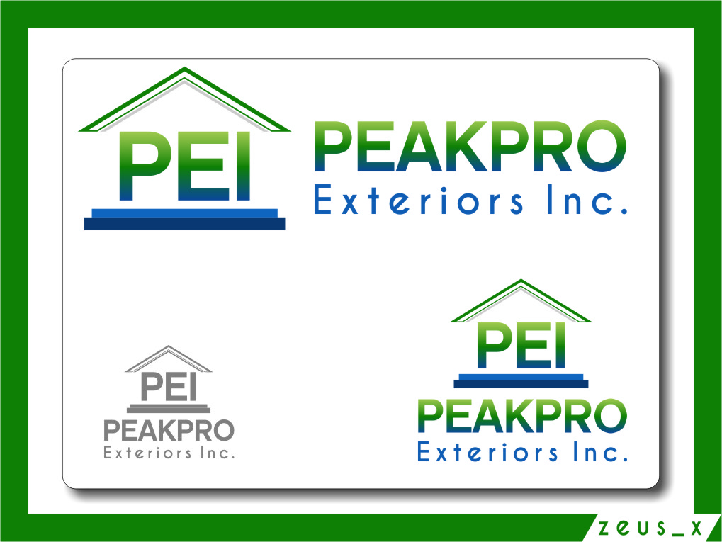 Logo Design by Ngepet_art - Entry No. 18 in the Logo Design Contest Captivating Logo Design for Peakpro Exteriors Inc..